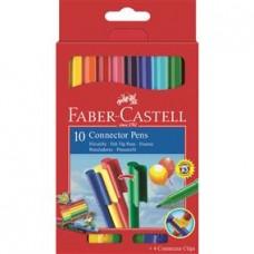 Carioci 10 culori Connector Faber Castell
