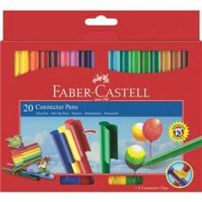 Carioci 20 culori Connector Faber Castell
