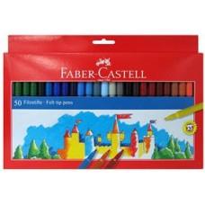 Carioci 50 culori Faber Castell