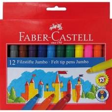 Carioci 12 culori  Jumbo Faber Castell