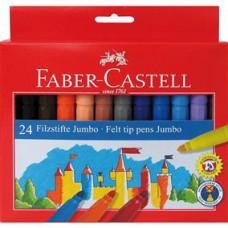 Carioci 24 culori  Jumbo Faber Castell