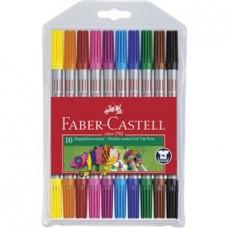 Carioci 10 culori 2 capete Faber Castell